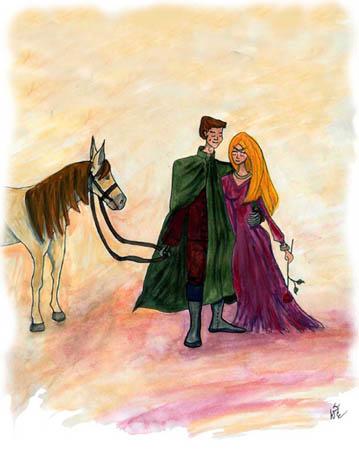 la-mouflette-aquarelle-le-chevalier-a-la-rose